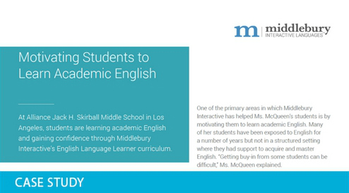 Motivating Students to Learn Academic English