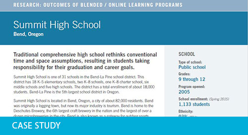 Case Study: Summit High School, OR