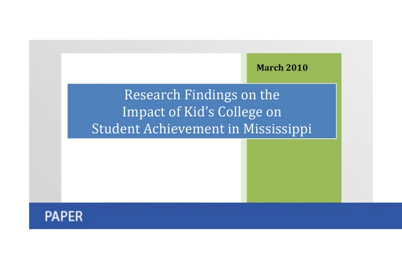Impact of Kid's College in Mississippi