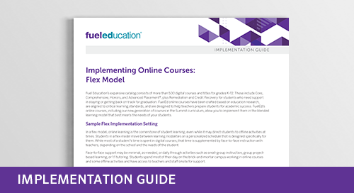 Implementing Online Courses: Flex Model