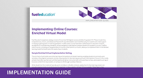 Implementing Online Courses: Enriched Virtual Model