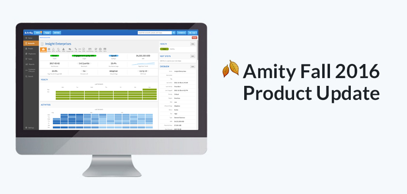 Amity Product Update