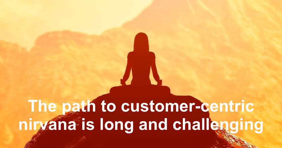 The path to customer-centric nirvana is long and chanllenging