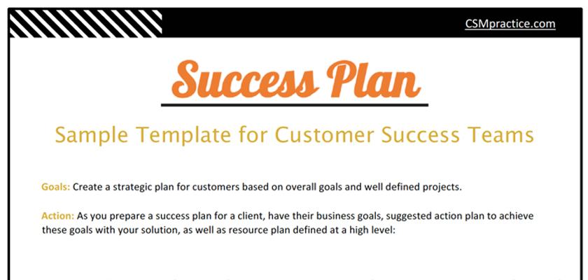 Success Plan Template for Customer Success Teams