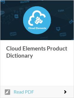Cloud Elements Product Dictionary