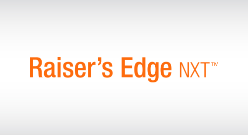 DATASHEET: New Raiser's Edge NXT Implementation Services
