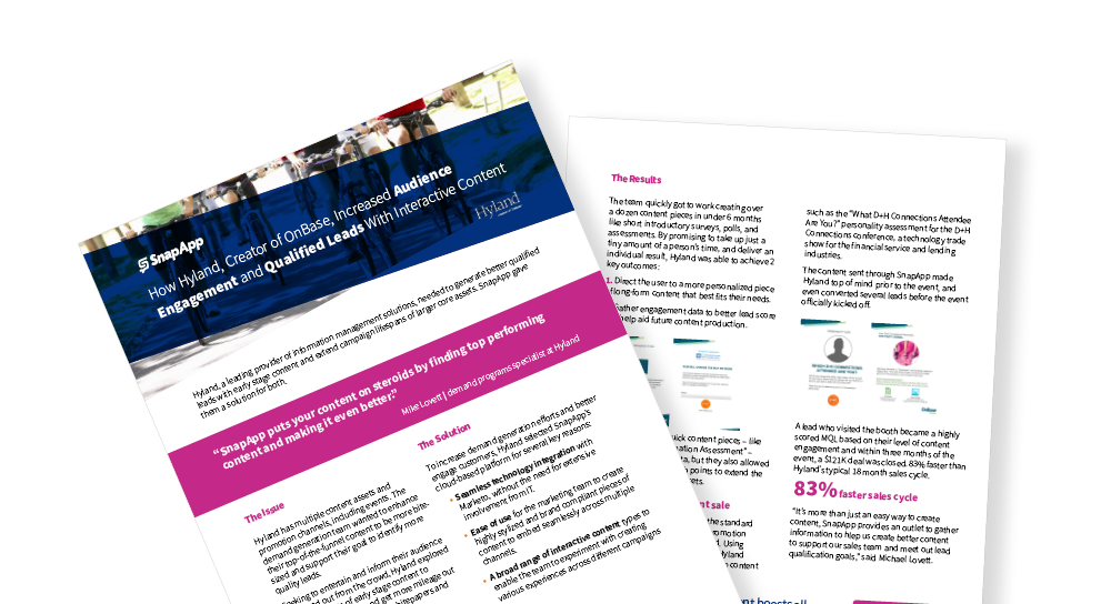 How Hyland Increased Audience Engagement and Qualified Leads With Interactive Content