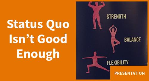 Matt Heinz: Why the Status Quo Isn't Good Enough
