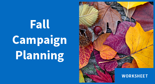 Worksheet: Plan a Fall Marketing Campaign