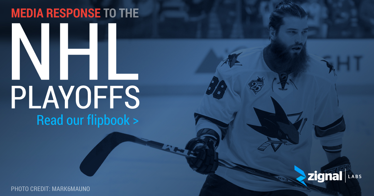 Zignal Labs Flipbook - Media Response to the NHL Playoffs