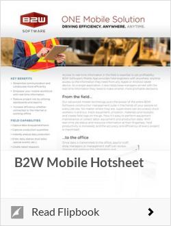 B2W Mobile Hotsheet