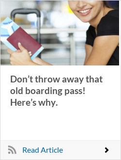 Don't throw away that old boarding pass! Here's why.