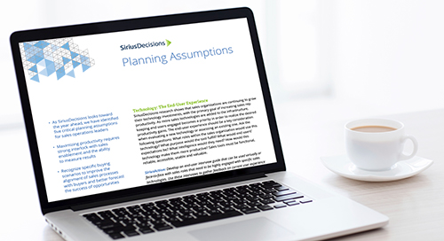 Sales Operations Planning Assumptions Guide