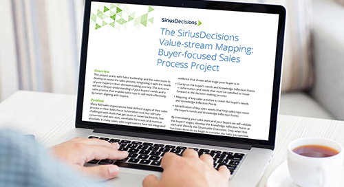 Value-Stream Mapping Buyer-Focused Sales Process Project Overview