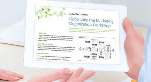 Optimizing the Marketing Organization Workshop Overview