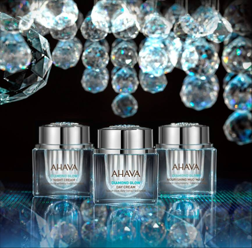 AHAVA Diamond Glow Skincare collection