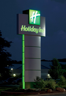 holiday inn LED signage