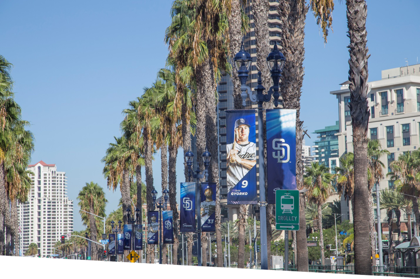 San Diego street with GE LED fixtures