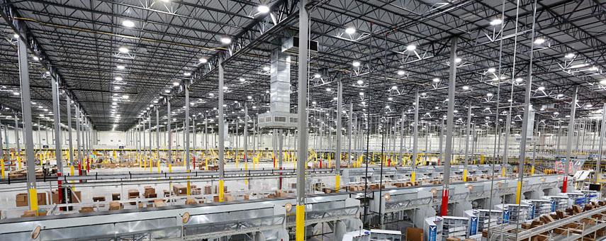 AEO industrial facility with led lighting
