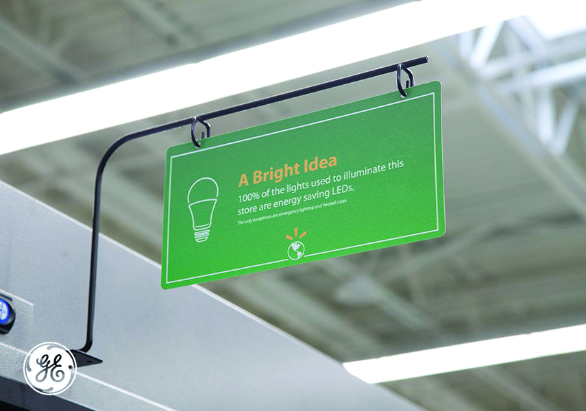 Walmart store LED sign