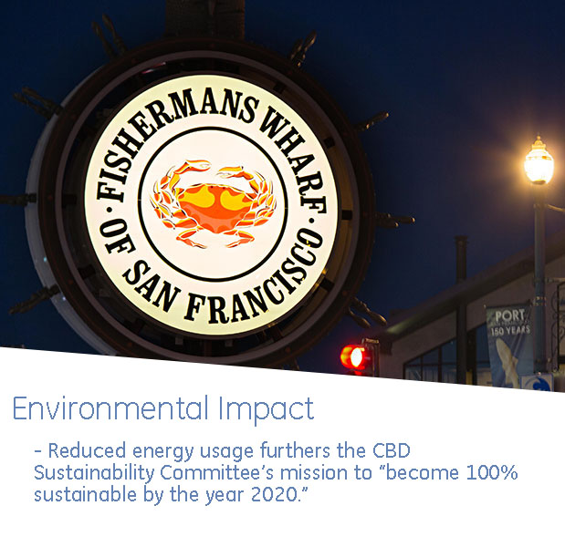 fishermans wharf crab wheel lighting environmental impact