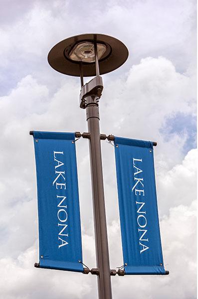 GE LED street lamp in lake nona