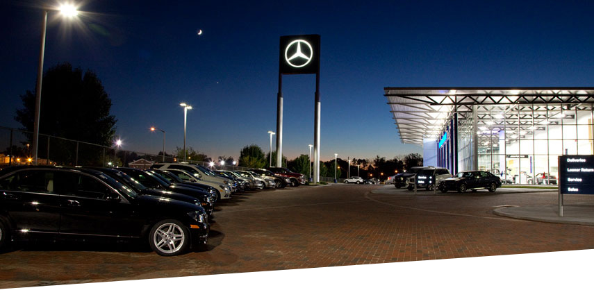 all-LED Mercedes-Benz facility