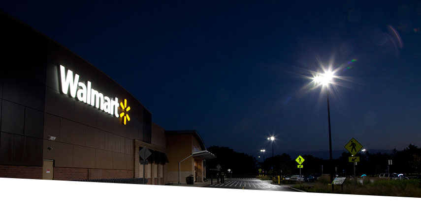 Walmart Supercenter Evolve LED Parking Lot Lighting