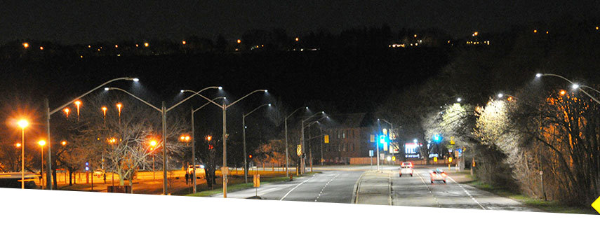 LED lighting in City of Hamilton