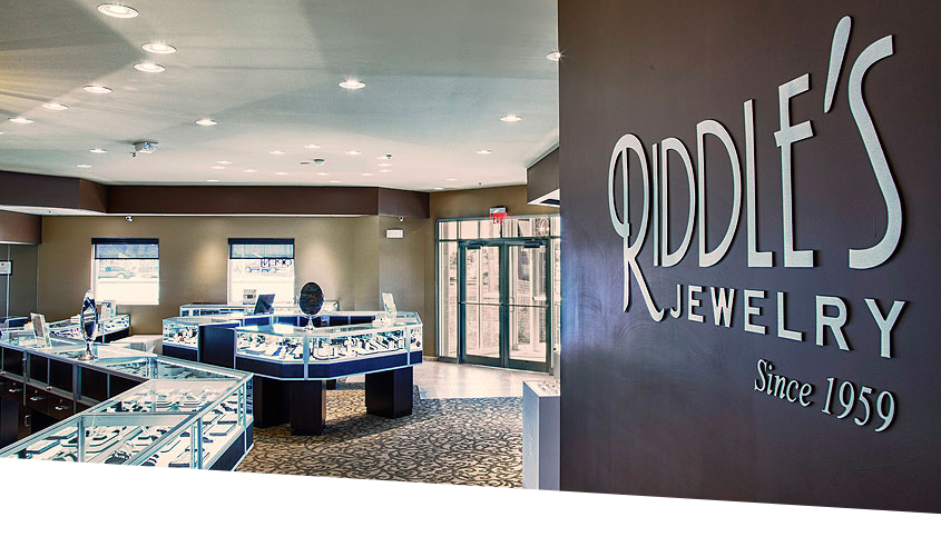 LED lighting at Riddle's Jewelry