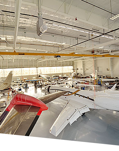 Duncan Aviation aircraft hangar