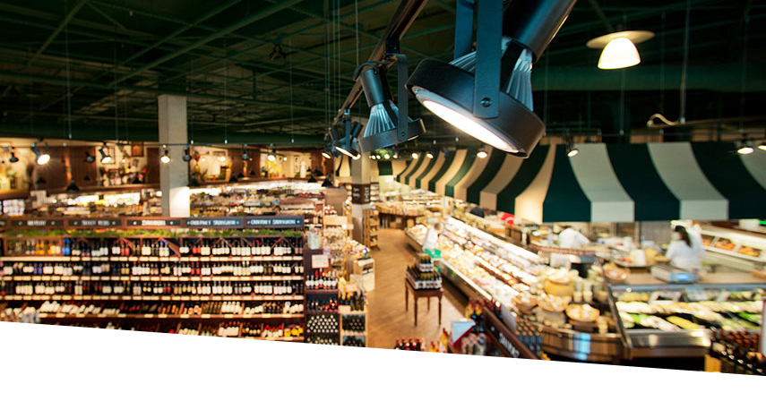 LED lamps in Fresh Market Store