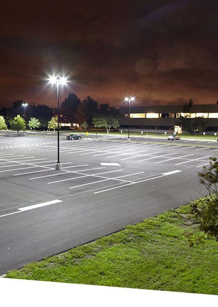 Jo-Ann Fabrics with LED parking lot lighting