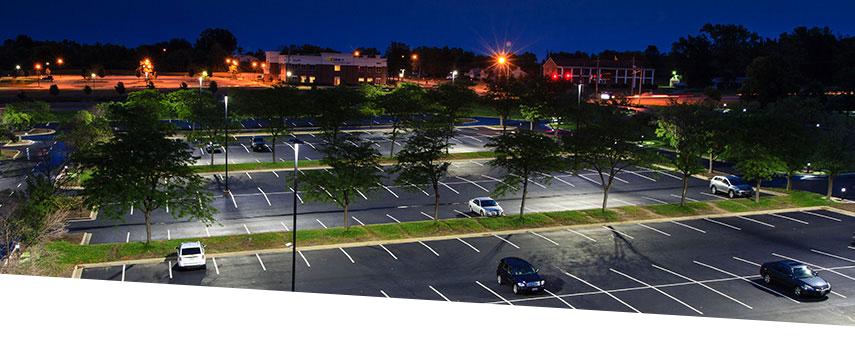 LED lighting Met Life parking lot