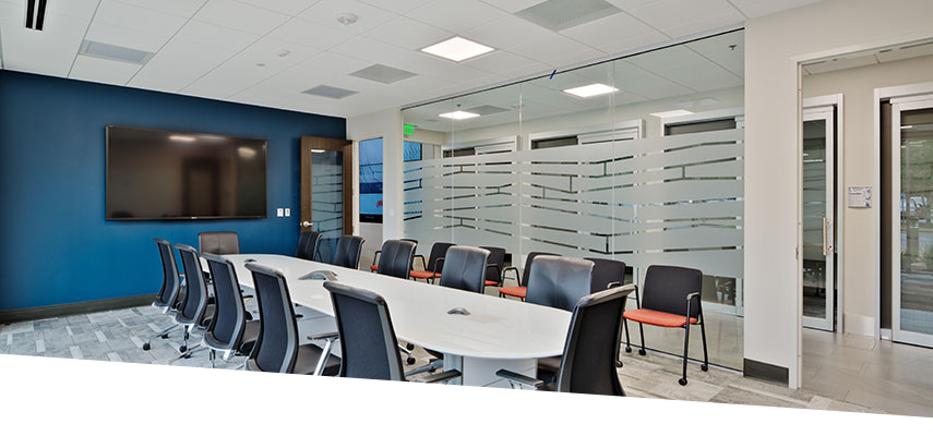 LED lighting in Ingersoll Rand conference room
