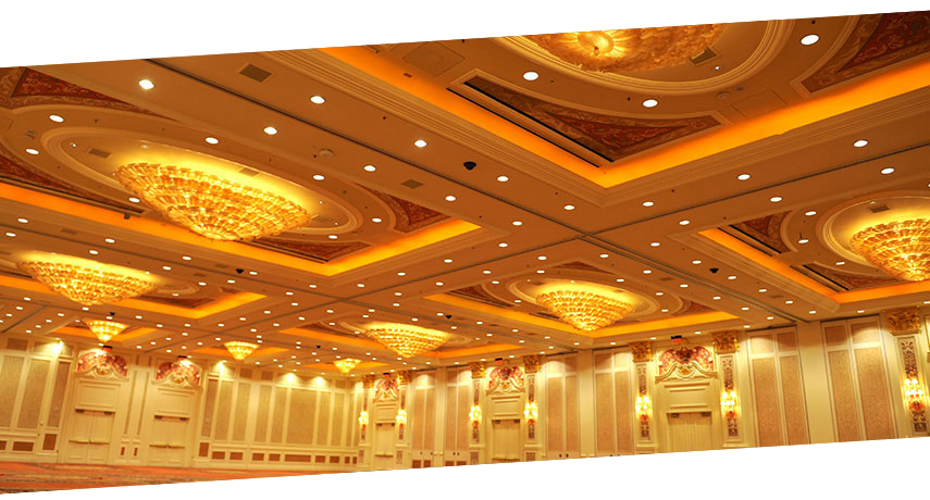 GE LED lamps in Las Vegas Sands Meeting Room