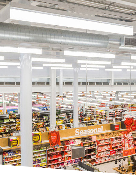 Sainsbury all LED Lighting store