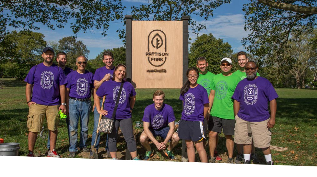 GE Employees at Global Community Day Pattison Park
