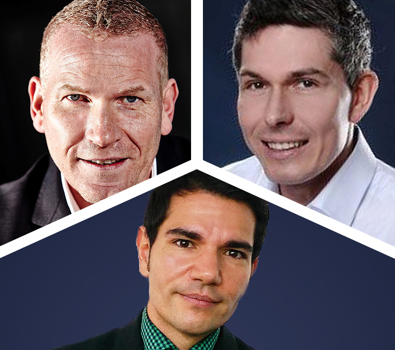 Martin Limbeck, Hardselling-Experte, Tim Cortinovis, Experte für Erstkontakte, Hermann Bauer, Channel Sales Manager Transcat
