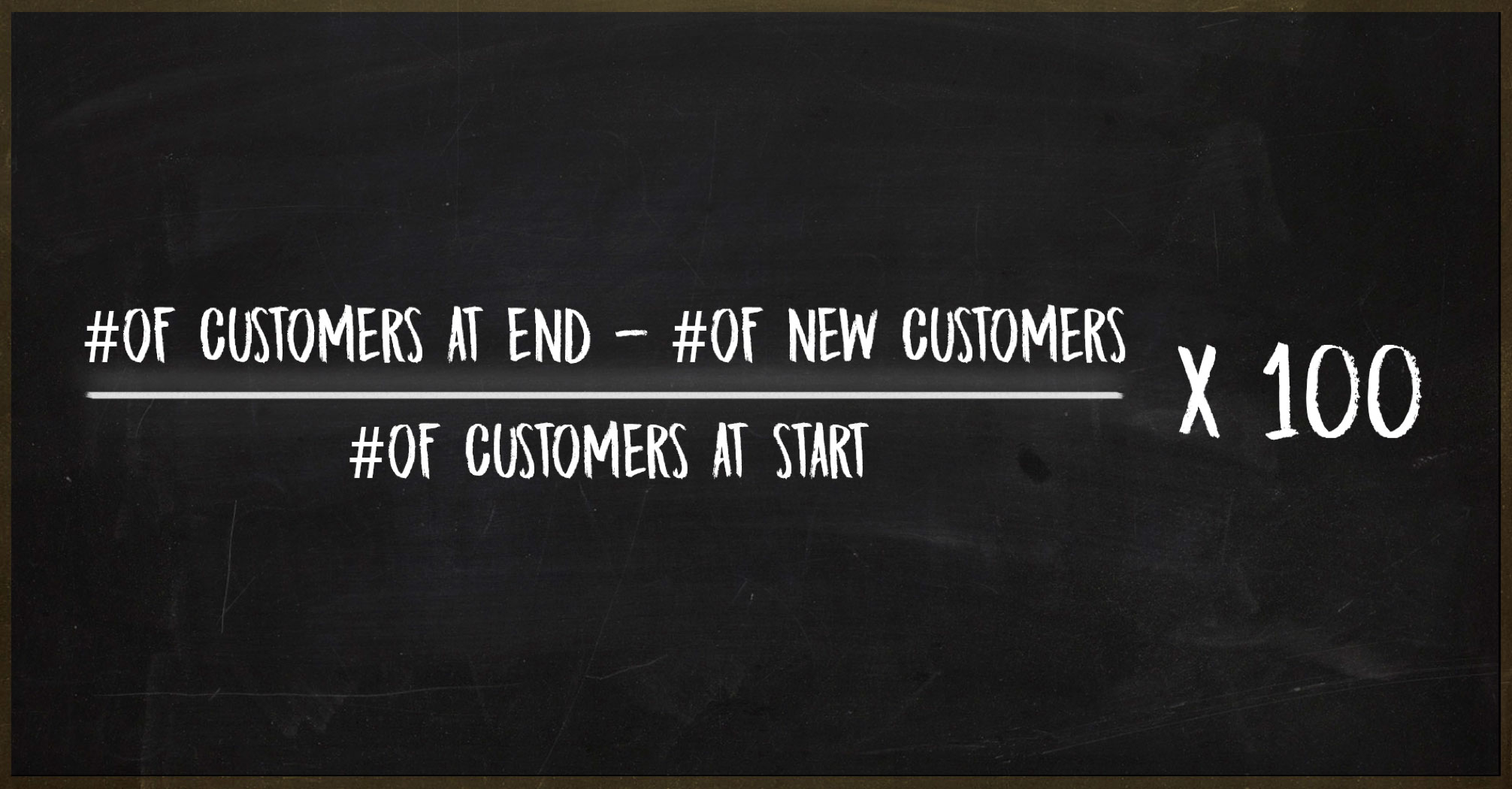 Formula for customer retention rate