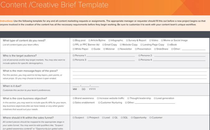 Free Creative Brief Template – Creative Brief Template