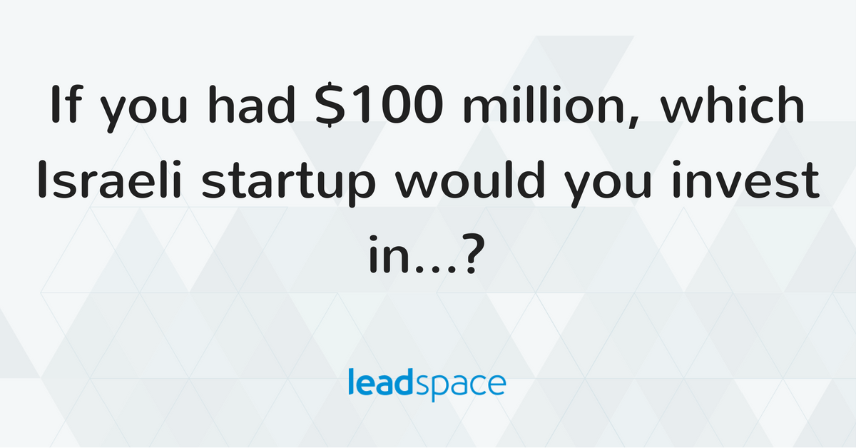 Leadspace rated one of Israel's most promising startups for investment