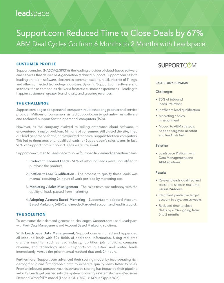 How Support.com Reduced Time to Close Deals by 67%