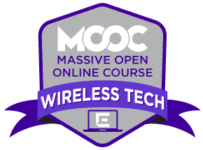 Example of a digital badge for mooc course on wireless technology