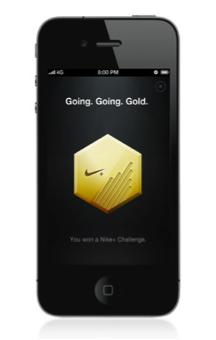 Nike+ gold badge image