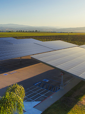 Commercial solar carport installation for business
