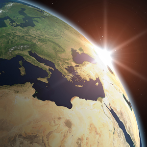 What is the environmental impact of solar power at a global level?