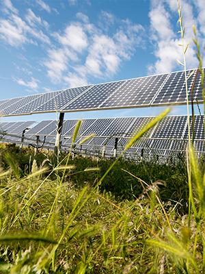 Offsite commercial solar panel installation