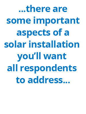 Be thorough to ensure a quality commercial solar RFP