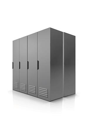 Commercial solar battery storage unit